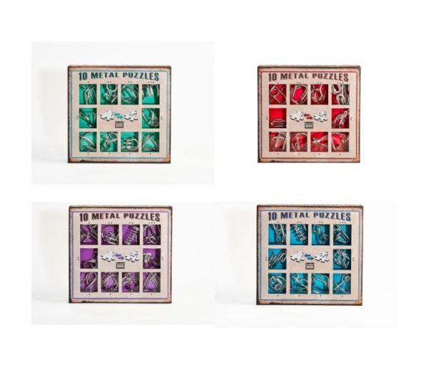 10 metal puzzles