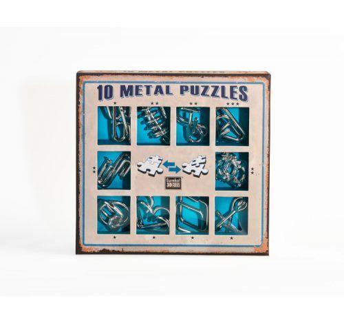 Set 10 metal puzzles