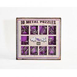 Set 10 metal puzzles morado