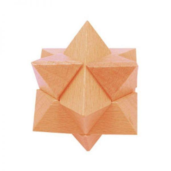 puzzle de madera estrella