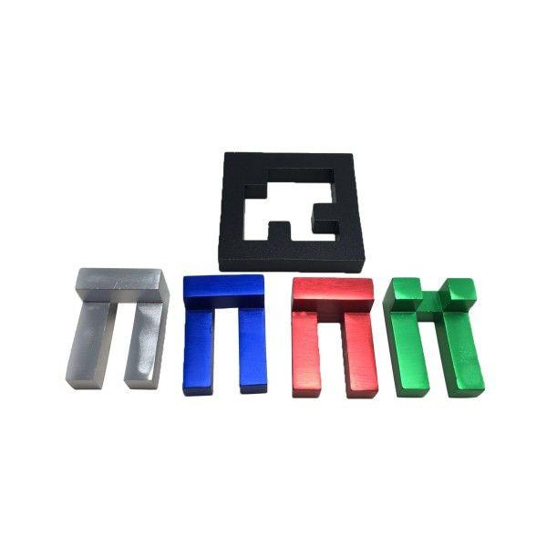 quad L metal puzzle