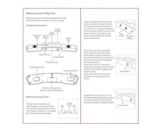 instrucciones YJ Timer