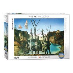 Eurographics Cisnes que reflejan elefantes