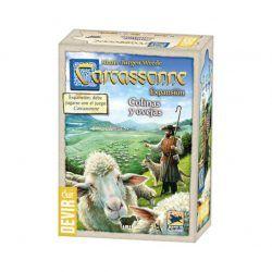 carcassonne ovejas y colinas