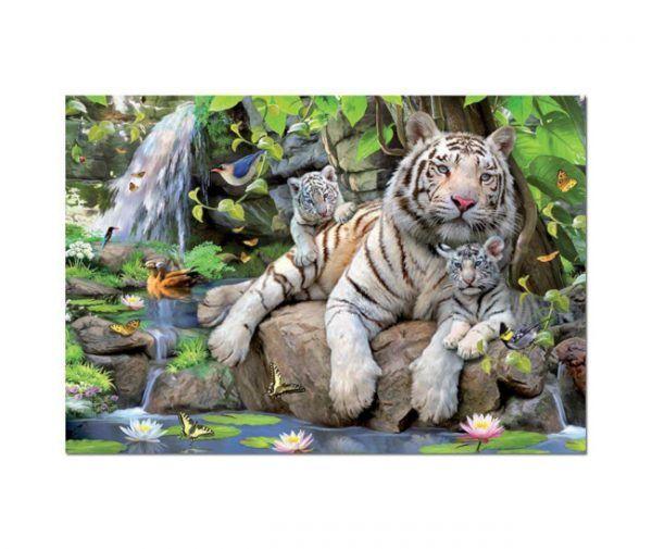 puzzle Educa Tigres blancos de Bengala