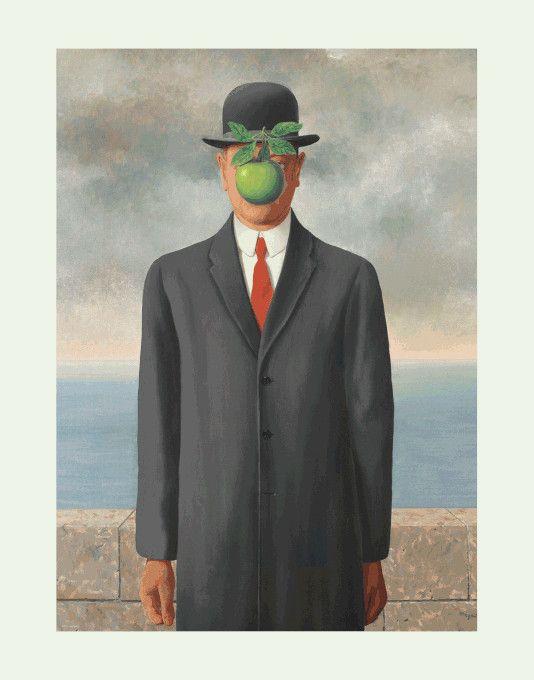 puzzle eurographics Son of Man de René Magritte
