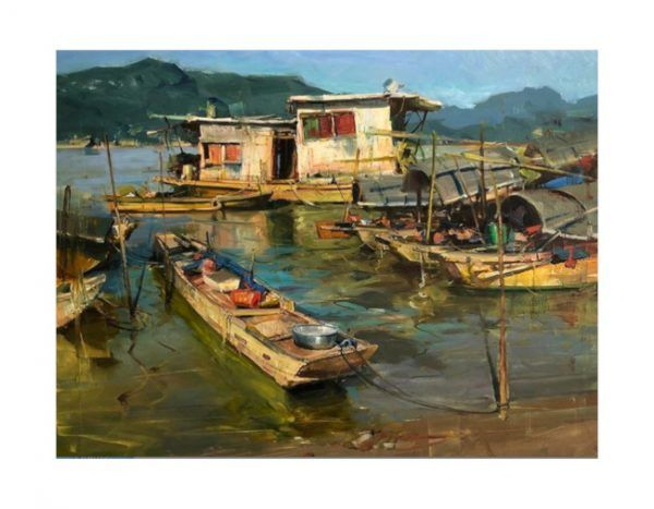 Art & Fable Pearl River Village puzzle