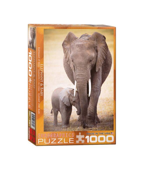 Eurographics Elefante y su cría