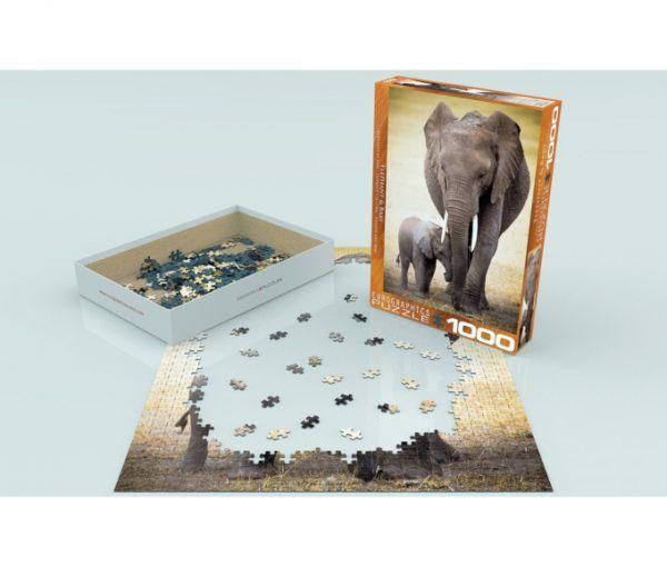 puzzle Eurographics Elefante y su cría