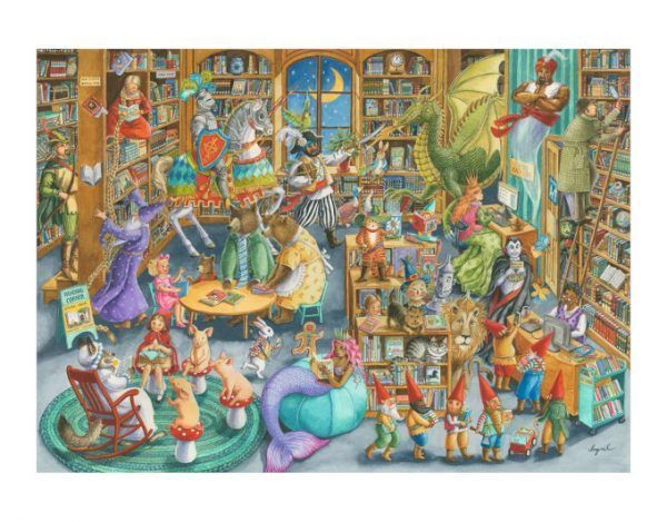 puzzle Medianoche en la Biblioteca