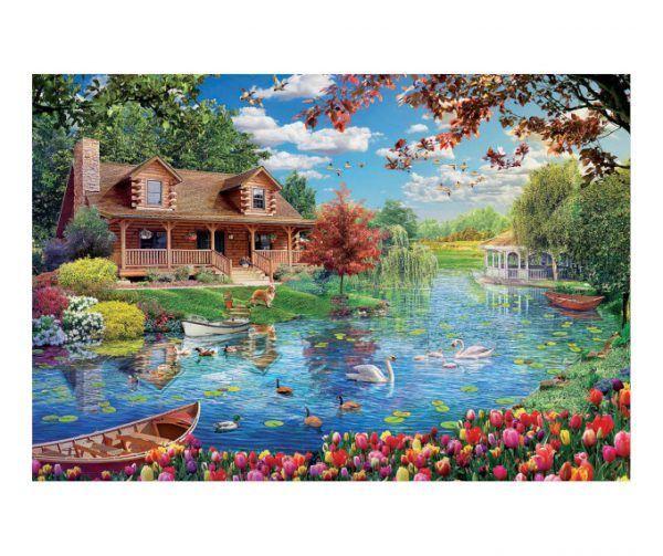puzzle Educa Casita en el Lago