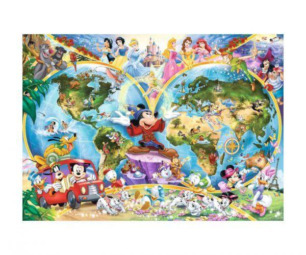 puzzle Ravensburger Mapa de Disney