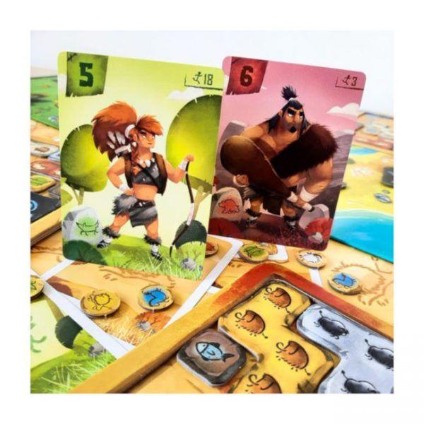 cartas juego de mesa prehistorias