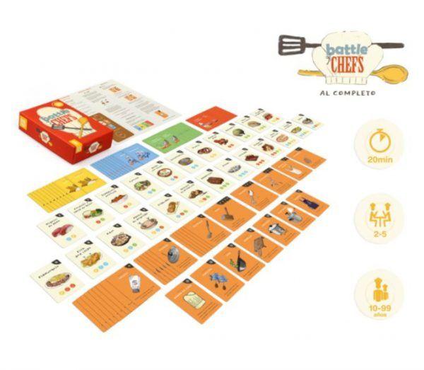 juego de cartas battle of chefs